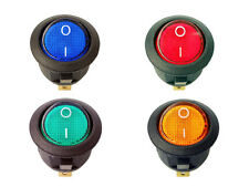 Interruptor 220v REDONDO luz on / off SPDT 125v 250v 230v panel empotrable