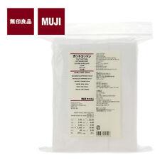 [MUJI MoMA] CUT COTTON Fine Quality White Facial Pads 65x50mm 165pcs JAPAN NEW
