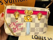 NEWPORT Beach Louis Vuitton Summer Trunks Damier Azur MINI POCHETTE ACCESSOIRES