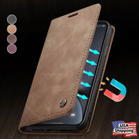 MAGNETIC FLIP COVER Leather Wallet Card Case For iPhone 11 PRO MAX XS XR 8 Plus