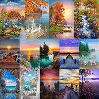 Scenery 5D DIY Full Round Drill Diamond Painting Cross Stitch Mosaic Art R1BO