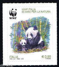 ITALIA 1 FRANCOBOLLO WWF NATURA PANDA 2016 nuovo**