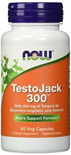 NOW Foods TestoJack 300 - 60 Veg Caps. Tongkat Longifolia jack  01/2021 FreshEXP