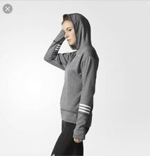 Adidas Icon Response Grey Running/activity Hoodie Small Uk 8-10