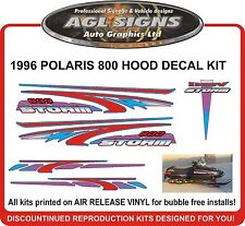 1996  POLARIS INDY STORM 800 Hood & tunnel graphics reproduction