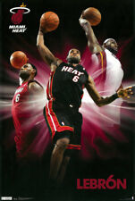 LEBRON JAMES MIAMI HEAT NBA  BASKETBALL POSTER - LARGE SIZE 24x36