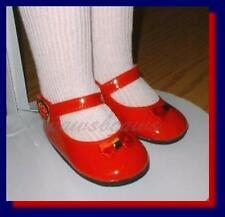 """RED Patent 3-3/4"""" x 1-5/8"""" Mary Jane Style Doll SHOES fit CHARMIN CHATTY"""