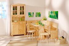 Vaisselier bahut buffet commode rangement meuble de cuisine pin massif NATUREL