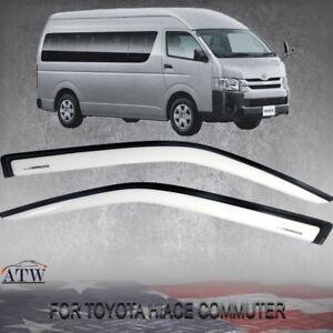For Van Toyota HIACE COMMUTER 2005+ Doors Visor Windshield Wind Weather Guard
