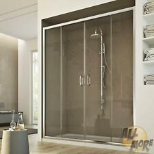 SHOWER SCREEN SHOWER DOOR ENCLOSURE CLEAR GLASS 2 SLIDING DOORS 1400MM