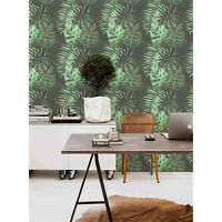 Non-woven wallpaper Tropical Composition Leaves Monstera Wall mural Decor