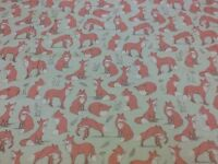 Mrs Fox 100% Cotton Craft Fabric In Duck Egg By The Half Metre