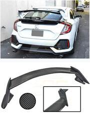 Type-R Style CARBON FIBER Rear Wing Spoiler Lip For 16-Up Honda Civic Hatchback