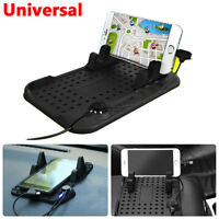 Multi-function Non-Slip Car Holder Dashboard Stand USB Mount Charger for Phone