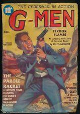 G-MEN December 1936 Pulp Magazine THE FEDERALS IN ACTION