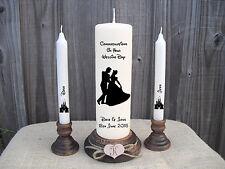 Personalised Wedding Unity Candle Set Disney Cinderella Castle Gift Keepsake