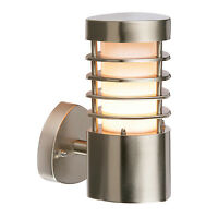Endon Bliss outdoor wall light IP44 9.2W Brushed stainless steel & frosted pc