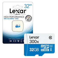 NEW 32GB Lexar Micro SD Micro SDHC Memory Card UHS-I Class 10 45 MB/s 32GB