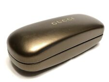 Authentic Women's Brown Gucci Clamshell Hard Side Eyeglasses Protective Case