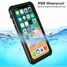Gray Clear For Apple iPhone X Waterproof Dirt Proof Case Full Body Slim Armor