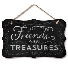 Chalk it Up Wood Sign---FRIENDS ARE TREASURES---Small Plaque