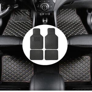 Floor Mat Universal Car Truck Front Rear PU Leather Heel Pad Carpet Waterproof