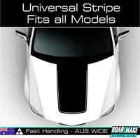 UNIVERSAL Bonnet hood decal stripe sticker MATTE BLACK 4x4 4wd sports car SUV