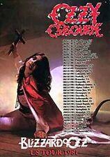 OZZY Osbourne BLIZZARD OF OZ TOUR metallo segno 670 mm x 210mm (KA) ridotto per cancellare