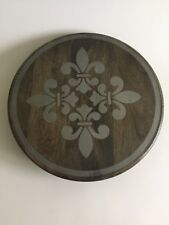"Heritage Collection Mango Wood Lazy Susan 15 1/2"" Gerson"