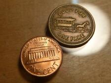 Minneapolis Street Railway Transit Token, Horsecar,  VF+ Condition..SKU#12460