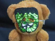 DAN DEE COLLECTORS CHOICE HALLOWEEN FRANKENSTEIN MASK BROWN TEDDY BEAR PLUSH