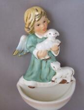 Goebel Porcelain Holy Water Font Angel with two lambs Germany New in Box