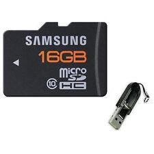 Samsung 16GB Micro SD MicroSDHC Class 10 TF Flash Memory Card Plus USB Reader