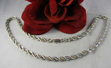 """Sterling Silver MS Heavy Rope 18""""  Necklace FERAL  CAT RESCUE"""