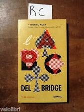 ROSA Federico, ABC del Bridge. 1968, Mursia