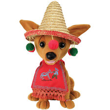 NEW Animated Singing And Dancing Feliz Navidad Festive Christmas Chihuahua Plush