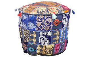 Throw Patchwork Cushion Cover Indien Bohemian Style Boho Handmade Ottoman Pouf
