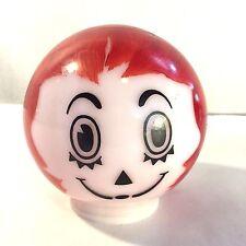Vtg Painted Milk Glass Ceiling Light Shade Globe Retro Red Rag Doll Raggedy Ann