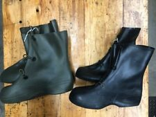 US ARMY MILITARY RUBBER WATERPROOF RAIN BOOTS OVER BOOTS ALL SIZES BLACK GREEN