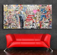 Mr. Brainwash Grafitti art Einstein Mural  36 x 20 Canvas Print Giclee