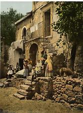 Sicilia. Taormina. Casa Rustica. PZ vintage photochromie, photochromie, vintag