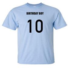Birthday Boy 10th tenth birthday ten 10 year old male baby Shirt - Many colours