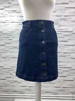 OASIS Dark Blue Denim Mini A-Line Front Button Skirt Size 8