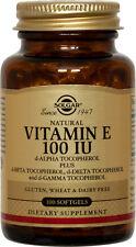 Solgar Vitamin E 100IU 100 Softgels  d-Alpha Tocopherol & Mixed Tocopherols