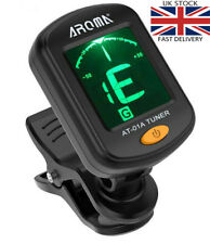More details for electric clip-on guitar tuner for guitar, bass, ukulele - includes battery