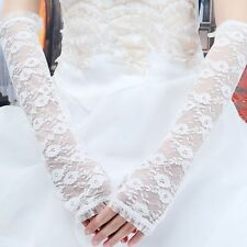 Protection Party Wedding Fingerless Gloves Lace Gloves Long Arm Elbow Gloves