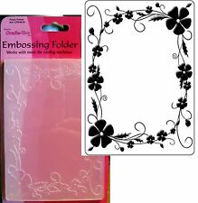 Flowers Embossing folder PANSY FRAME CTFD4018 CRAFTS TOO Embossing folders