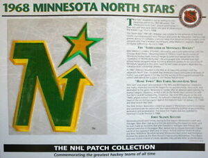 1968 MINNESOTA NORTH STARS Willabee & Ward NHL THROWBACK HOCKEY TEAM PATCH Card