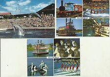 RETRO SEA WORLD ON THE GOLD COAST SURFERS PARADISE QLD POSTCARDS x 3