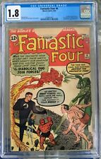 Fantastic Four #6 (1962) CGC 1.8 -- O/w-w; 1st Marvel villain team-up; 2nd Doom